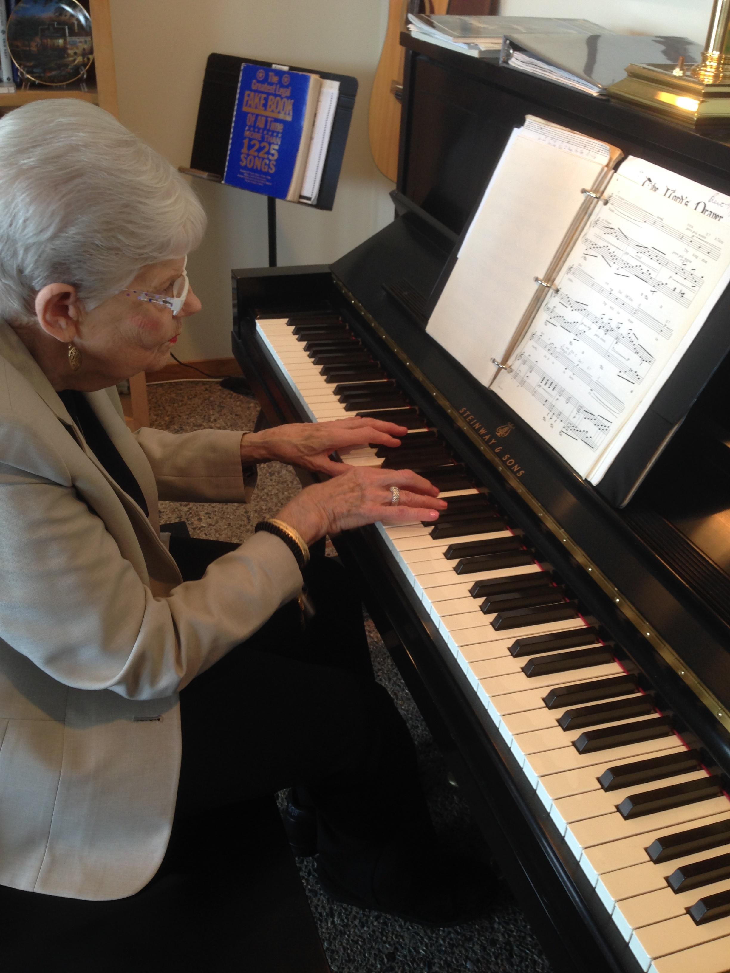 2014 Mom at the Piano