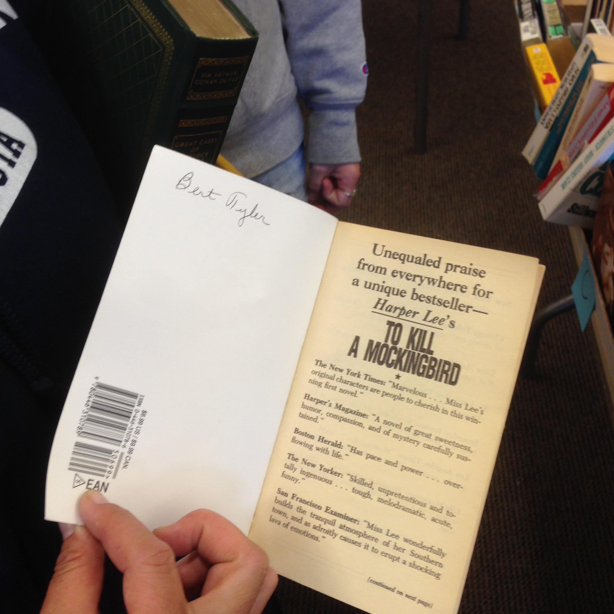 To Kill a Mockingbird - Trudy actually paid to get Mom's book back, lol