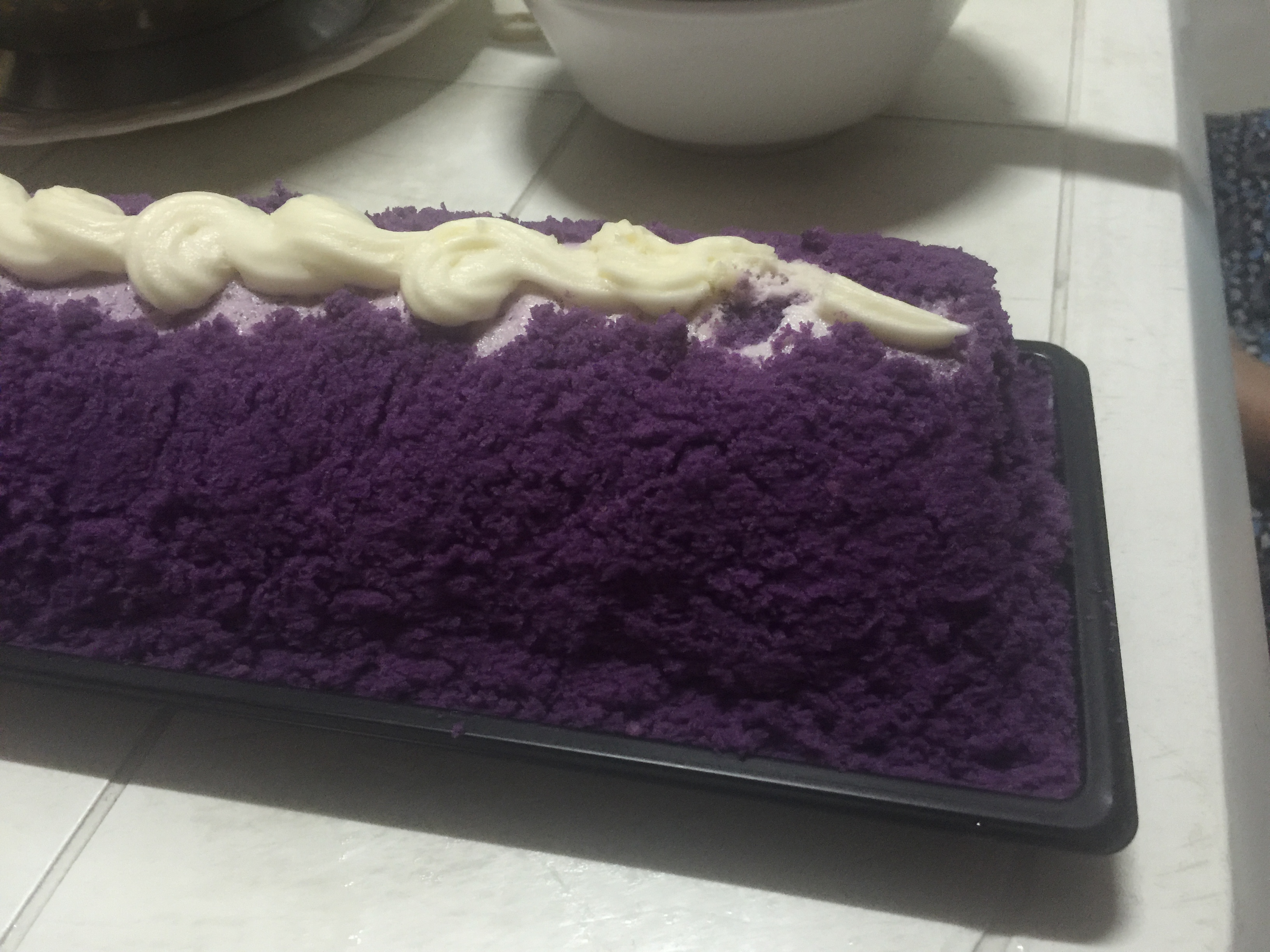 You want color? Here's Ube (purple yam) cake. Yummy!