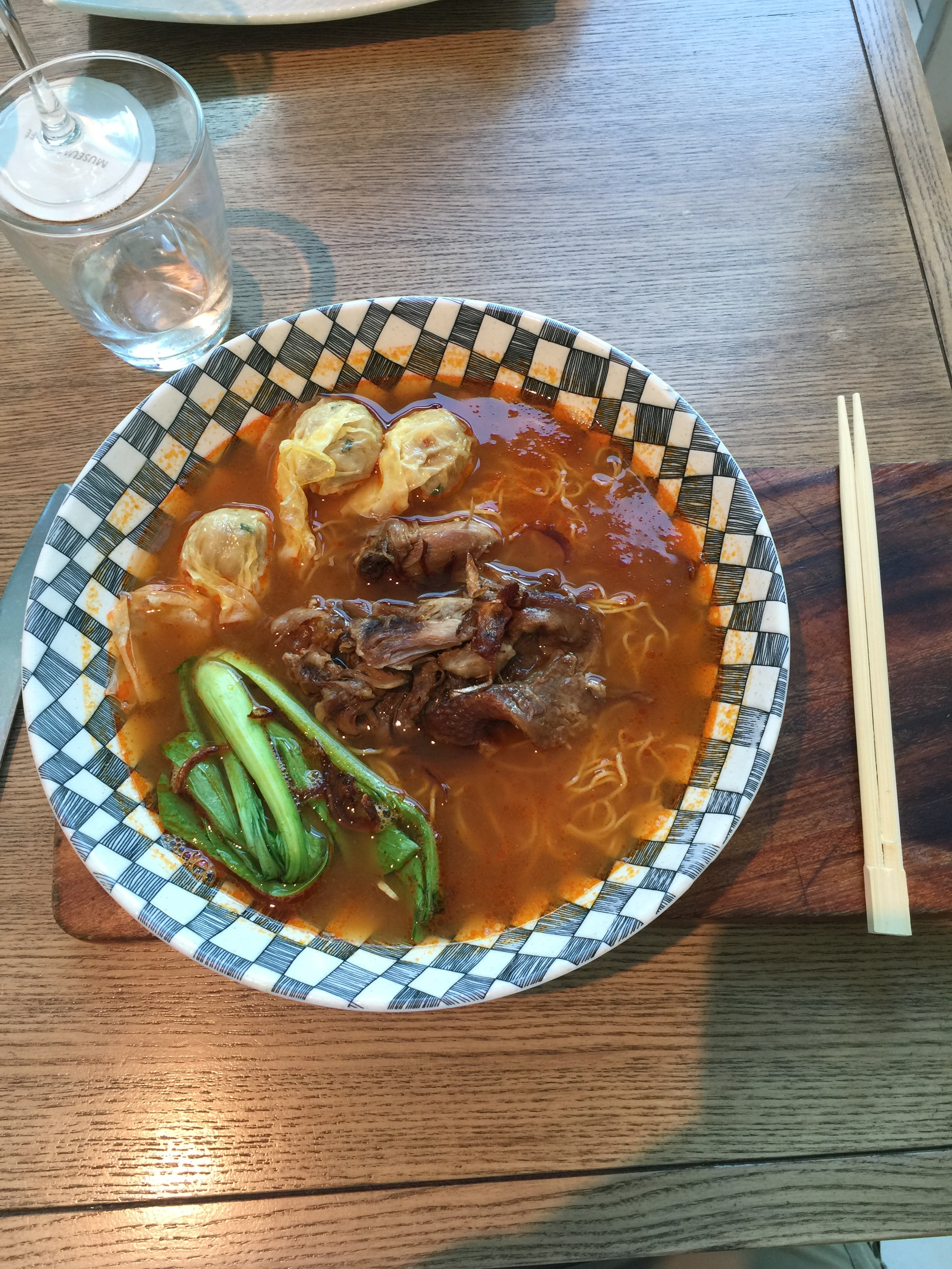 One of the beautiful, tangy ramen dishes served at the Museum Cafe