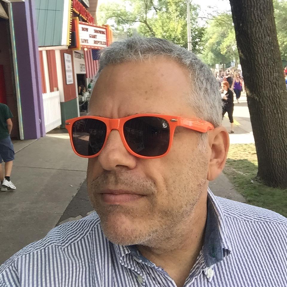 Rockin orange Kare11 sunglasses
